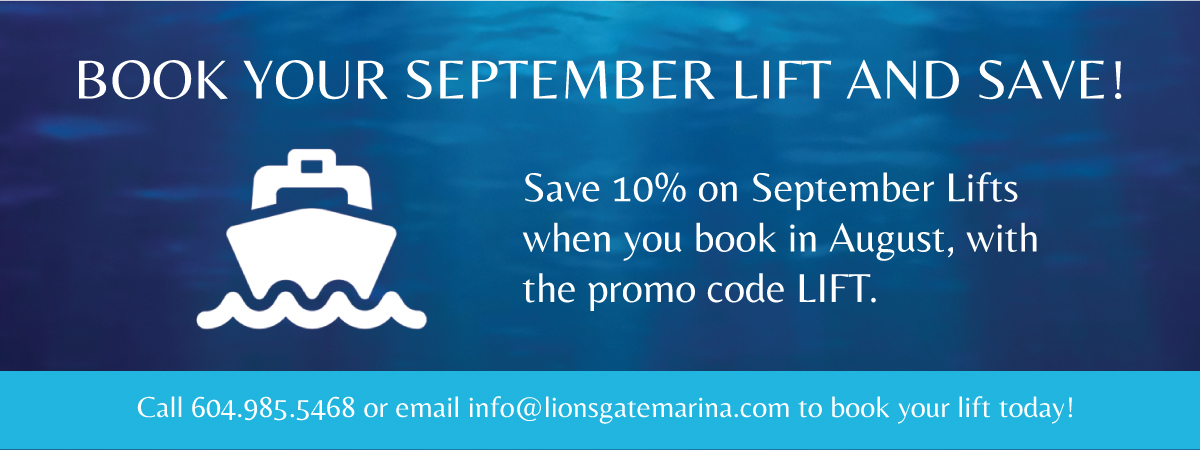 Save 10% on September Lifts when you book in August with the promo code LIFT